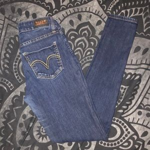 Vintage Levi's black tag 535 legging jeans 27x30